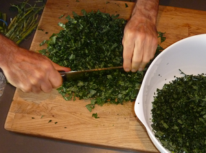 kale-chopping