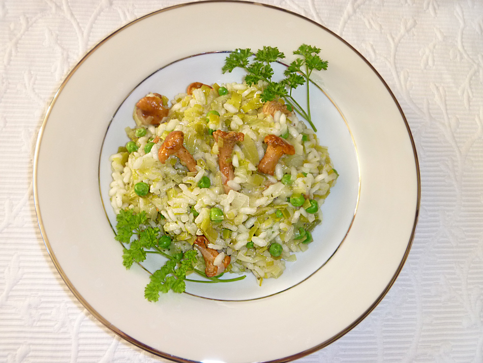 Risotto with chanterelles and white wine
